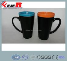 DIY ceramic chalk mug for writing/ blackboard mug ceramic cup