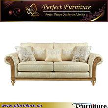 2014 el último diseño sofá de la sala la última tela de lujo de oro pfs41025 sofá de