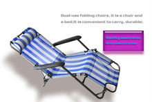 Dobrável de alta back deck cadeira para sun bath dentro de um travesseiro