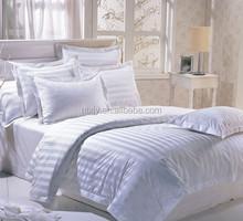 Hotel Cotton Bedding Set 0.5/1/3cm white Stripe Fabric
