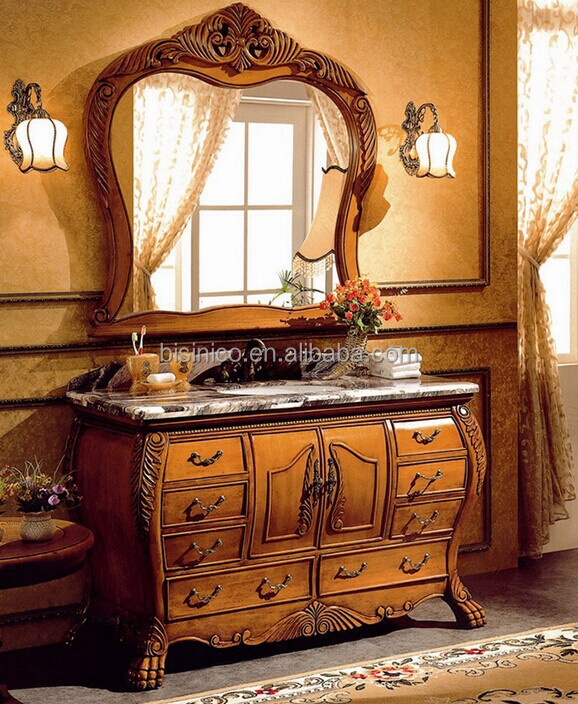 Victorian Style Wooden Bathroom Furniture SetVintage Wood Carved - Victorian style bathroom cabinets