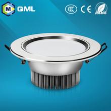 Llevado abajo de luz alto lumen precio bajo 3 w 5 w 7 w 9 w 12 w 15 w 18 w de aluminio + material acrílico