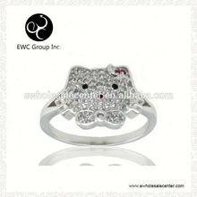 r ring rhodium plating factory direct sale
