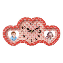 a clock + double-deck love style 3D Illusion plastic photo frame ZD1590W
