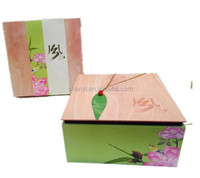 Mountain New Imitation wood design paper food gift box