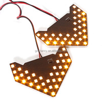 2015 New 1pair 33 SMD 12V LED Arrow Panel For Car Rear View Mirror Indicator Turn Signal Light