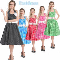 100% Polyester Material and Adults Age Group dancing swing jive rockabilly dress