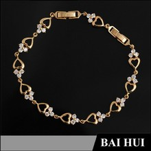 In Stock 2015 China Factory New Jewelry Men And Women Gold Bracelet 18K Designs/Wholesale Fashion Gold Bracelet