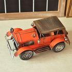 Zakka mercearia classic retro metal modelo do carro de recolha de mão- feitos ornamentos antigos b0132
