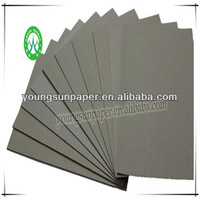 2015 grey paper book cover/duplex card board
