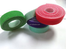 Custom back to back velcro roll/green,red,blue,purple hook and loop velcro