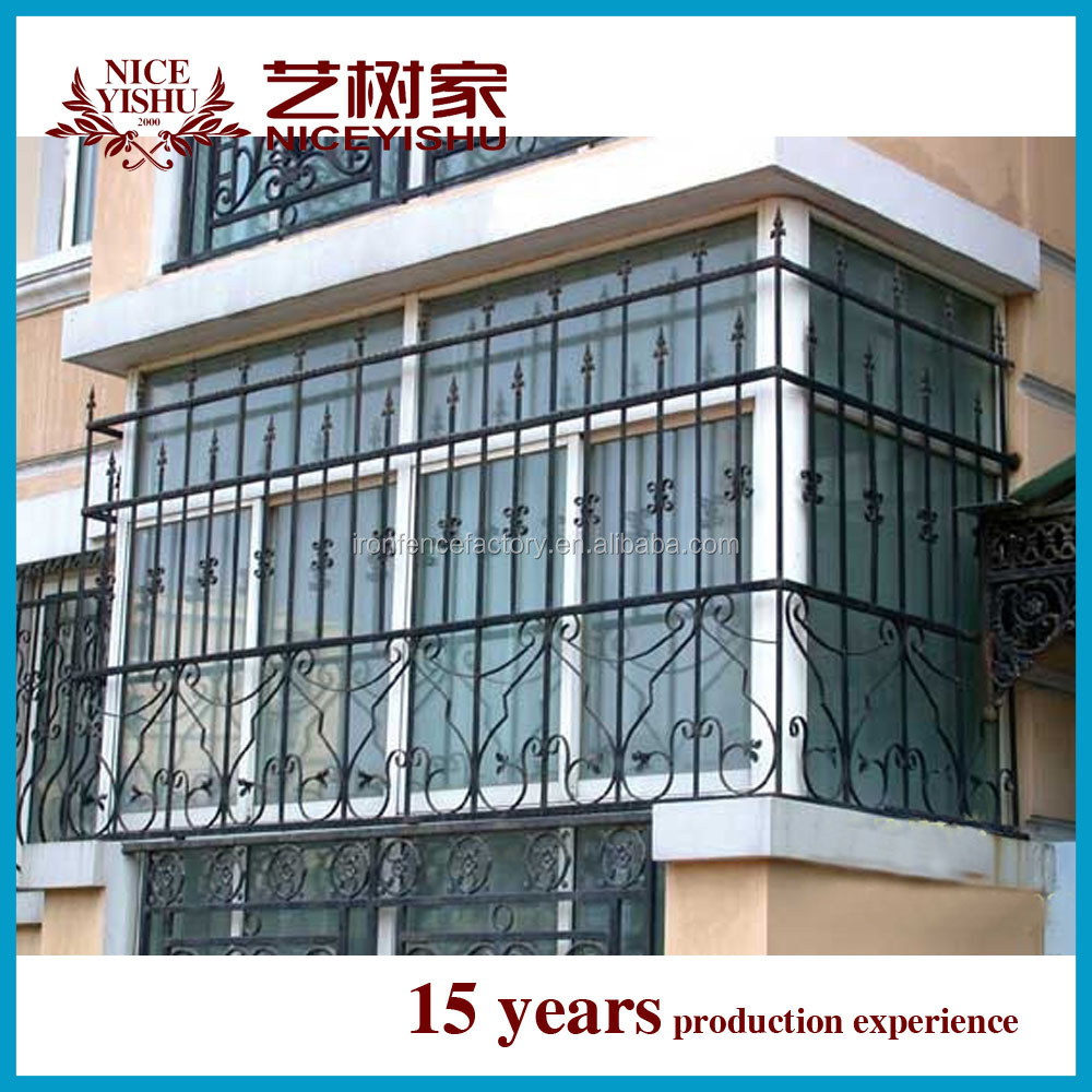 Ornamental wrought iron window grill design simple steel for Iron window design house