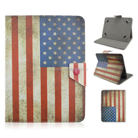 Universal Folio Leather Flip Case Cover For Android/Apple Tablet PC 7""