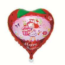 Happy Together factory Wholesale Sweet Strawberry Birthday Party Decoration Balloons Foil