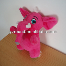 Dark pink lovely elephant plush doll