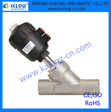 "1/2 inch welding connection function angle valve, plastic actuator, piston type, KLJZF-1/2""W"