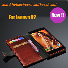 Factory Price Flip Leather Phone Case for Lenovo VIbe X2