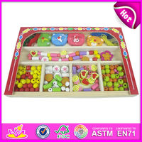 2015 New kids wooden beads box toy,popular fashion children wooden beads box toy,DIY baby bead box toy education toys W11E002