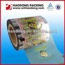 custom film roll for packaging film cup lid sealer