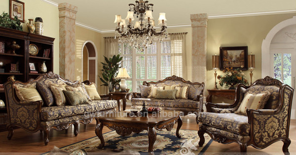 solid wood antique living room furniture set a24 with good
