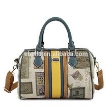 bag 2015 leather custom branded digital printing cowhide lady shoulder bag hand made bags genuine leather handbags 2015