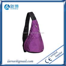 Factory wholesale lady PU leather handbag sling bags