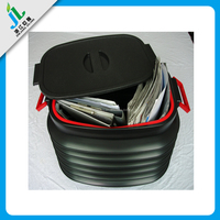 hot sale china manufacturer 5 gallon cheap black foldable retractable collabsible rectangular pp plastic pail bucket with lid