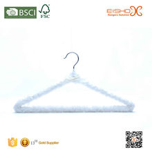 Eisho Softly Beautiful Style Padded Satin Hanger with a White Bow