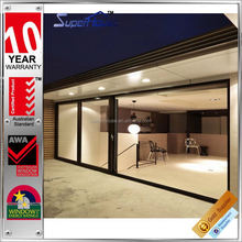 Commercial aluminium toughened glass sliding wall with Australia AS2047 Standard