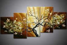 100% handpainted decoration ,canvas flower oil painting,wall decoration painting