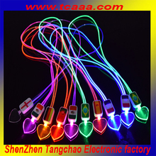 2015 hot new promotional gift led lanyard necklace for party favor events