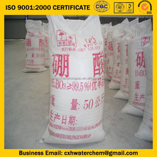 ISO manufacture factory price boric acid 99.6%min