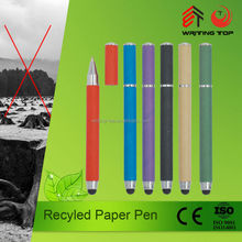 Factory promotion logo print recycle eco paper ball pen