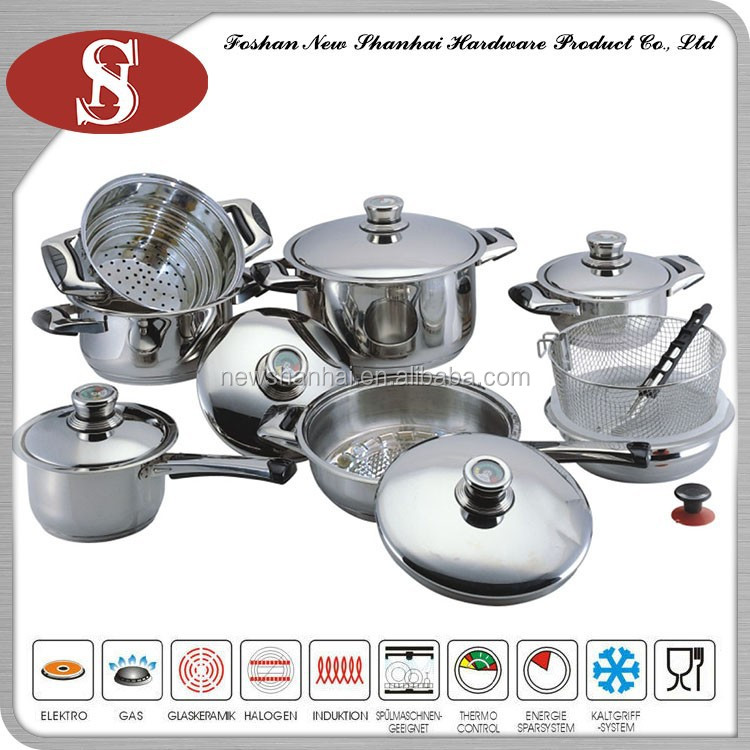 16pcs the best selling stainless steel kitchen queen for Buy kitchen cookware