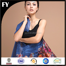 colorful and ling size digital printing logo print silk scarf