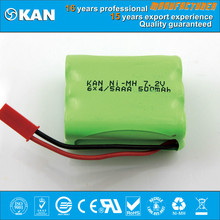 KAN 7.2v 6x4/5 AAA 500mah Ni-MH rechargeable battery packs for rc car , mini scooter, baby toy