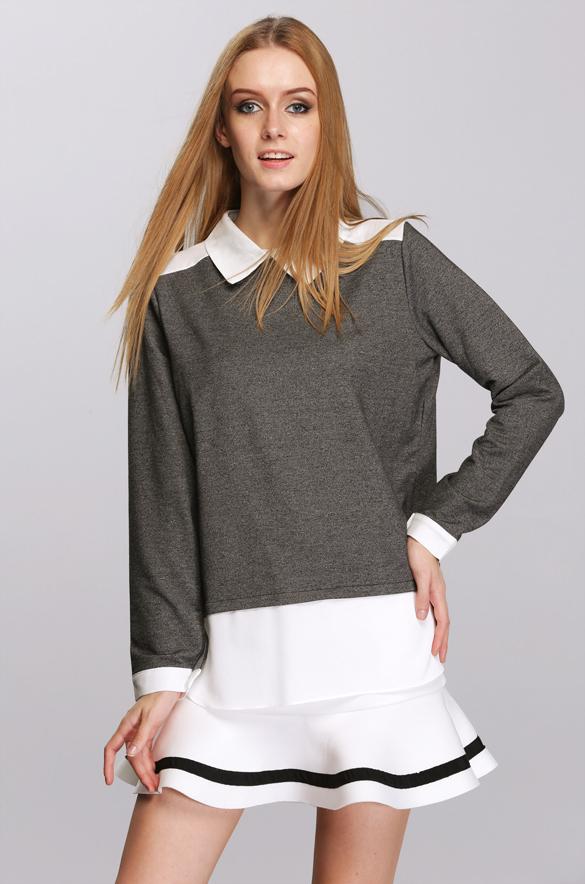 Jumper Shirt Women Women Peter Pan Shirt Collar
