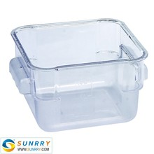 PC Square Storage Container food storage container 2 QT glass vacuum food storage container for NSF approved (SY-SC11A SUNRRY)