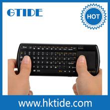 71 keys rechargeable backlight 2.4 ghz wireless keyboard touchpad