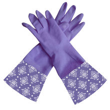 2014 new design 40cm long extra long household rubber fish cleaning gloves