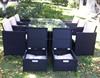 multifunctional footstool cube dining set outdoor rattan garden furniture
