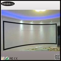 Curved projection screen/Fixed curved screen/Curved fixed frame projection screen with soft front material