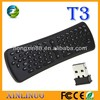 T3 2.4G wireless fly air mouse keyboard remote controller and keyboard Air mouse for Android TV box, Smart TV & PC