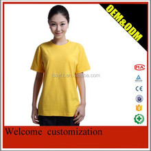 Yellow super soft T--shirt in summer for work