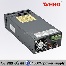 CE ROHS approved 1000W Single output switch power supply 12v 1000w