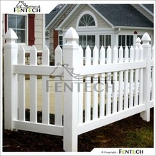 Made in China Customized High Quality Beautiful White Plastic Garden Fence