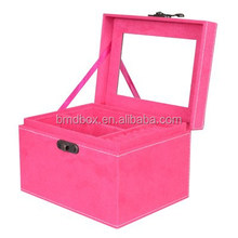 Professional Factory Travel customized gift Jewelry Boxes fabric covered Wholesale