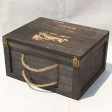 Luxury Wine Packing Box Top Grade Wooden Wine Carriers