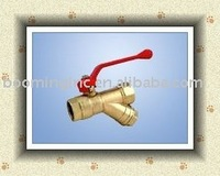 CE approved brass Y-strainer ball valve