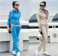 2014 de la moda de las señoras doble cuello y cremallera 100% de algodón las camisetas en blanco